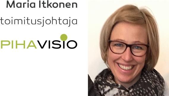 Maria Itkonen, toimitusjohtaja, Pihavisio